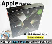 Apple Mac Os X 10.5.4 Leopard Server Unlimited Clients New In Orig Sealed Box