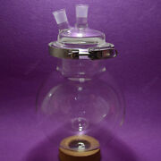 2-neck Reaction Flask24/295000mlseparately Flaskround Bottomwith Clamp