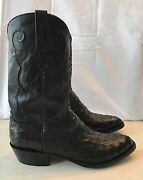 Menand039s Lucchese Classic Boots L1213 Black Full Quill Ostrich Us 14 Worn Once