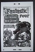 Large Production Art Fantastic Four 41 Cover, Jack Kirby Art, 11x17