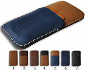 Leather Case For Samsung Galaxy. Personalized Pouch With Credit Card Pocket
