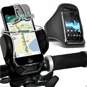 Quality Bike Bicycle Holder+sports Armband Case Cover+in Ear Headphones✔grey