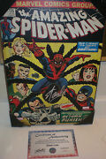 Stan Lee Signed Amazing Spider-man 135 13x19 Wooden Wall Art W/lee Coa
