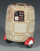 Eric Olson Pottery, One-of-a-kind Droid Sculpture, art pottery, arts and crafts