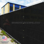 Customize 6and039ft Privacy Screen Fence Black Commercial Windscreen Shade Cover1-160