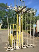 Large Vintage Steel Wrought Iron Style Metal Fence Lot Off A Pier Architectural
