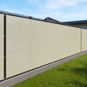 Custom 6and039ft Privacy Screen Fence Beige Commercial Windscreen Shade Cover 1-160ft