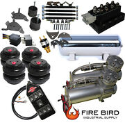 D Chevy S10 Air Kit Pewter 2500 Bags 3/8 Valve Black 7 Switch Acc 5 Gal