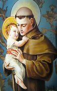 36 Holy Cards Collection St Anthony Of Padua 4 Leaflets/booklets Vintage Color