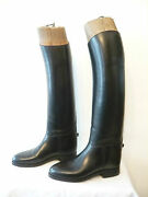 Boots Cavalry Black - Bootmaker Military Of Cadre Noir To Saumur - T.375
