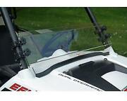 Polaris Rzr Hard Coated Half Windshield With Flip Clamps