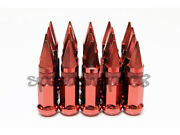 Z Racing Steel 17 Hex Red Spike Lug Nuts 12x1.5mm Cone Lugs Close End