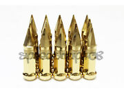 Z Racing Steel 17 Hex Spike Gold Lug Nuts 12x1.5mm Cone Lugs Close End