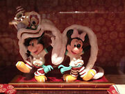 Extremely Rare Mickey And Minnie Mouse Dancing Chinese Dance Le Of 500 Statue