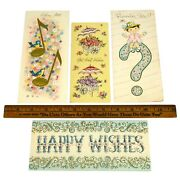 Vintage Greeting Card Lot 4 Blank Cards Get Well Soon Happy Wishes Cheery Note+