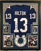 Framed Ty T.y. Hilton Autographed Signed Indianapolis Colts Jersey Jsa Coa