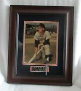 Al Kaline Photo Signed/matted/framed And Sold At A Tigers Charity Auction-wow