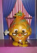 1980s Louis Marx Style Wind-up Working Pineapple Old Man Glasses Anthropomorphic