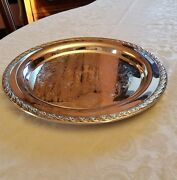 Wm Rogers And Son Silverplate 2071 Spring Flower Design Tray 12 Diameter