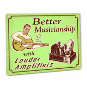 Funny Loud Guitar Amplifier Sign W/ Vintage Tube Amp Head Kit Chassis 114