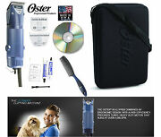 Oster Turbo A5 2 Speed Clipper 10 And 10 Wide Blade,case,dvd,comb-dog,sheep,horse