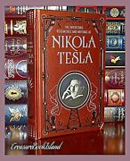 Inventions Researches Writings Nikola Tesla Illustrated Sealed Leather Hardcover
