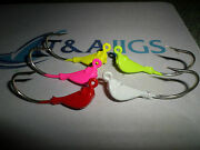 15 Heavy Duty Saltwater Jig Heads Choose Size And Color Tanda Jigs Xx-strong Hooks