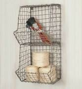 Hanging Small Wire Wall General Store Storage Organizer Basket Farmhouse Country