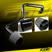 For 01-05 Honda Civic Automatic 1.7l Black Cold Air Intake + Stainless Filter