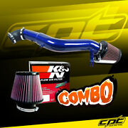 For 05-10 Jeep Grand Cherokee 3.7l V6 Blue Cold Air Intake + Kandn Air Filter