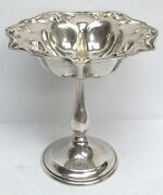Wonderful Art Nouveau Wallace Sterling Silver Footed Candy Dish Compote