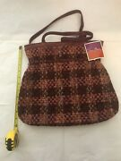 New With Tags Vera Bradley Clinch Tote Purse Tweed Retired