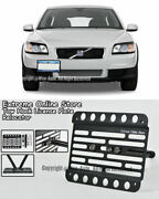 For 07-10 Volvo C30 Front Bumper Tow Hook License Plate Mount Relocator Bracket