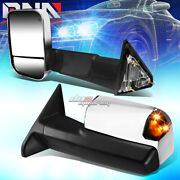For 2009-2012 Ram Truck 1500 2500 Power+heated+led Signal Towing Mirror Chrome
