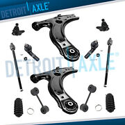 12pc Lower Control Arms Ball Joints Tie Rods Sway Bars For Vwbeetle Golf Jetta