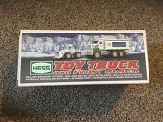 New 2005 Hess Emergency Toy Truck And Front Loader. In Box.