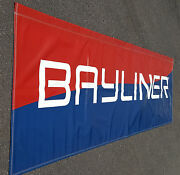 Bayliner Boats Banner / Flag Double Sided 45x12and039 Man Cave Garage