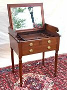 Fine Chippendale Styled Mahogany Antique Vanity - Shaving Stand
