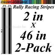 2x46 Universal Rally Racing Stripes Vinyl Decals Stickers For Car Truck Boat