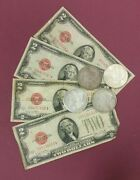 1928 2.00 United States Note 1 1921 Morgan Dollar 1 Coin Lot
