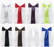 400 Satin Chair Cover Sash Bows 6 X 108 Wedding Party Event Event Made In Usa