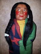 Skookum Indian Doll 15.5 T Yellow Tagged