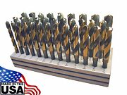Norseman 33pc Silver And Deming Drill Bit Set Hi-moly M7 1/2-1 By 64th Sandd Usa