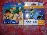 Lot 2 Vtech Innotab Games Miles From Tomorrowland And Jake Neverland Pirate Lot28
