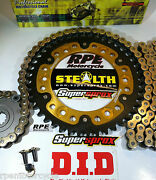 Honda Cbr600rr 2007-20 Did Supersprox Gold Chain And Sprockets Kit