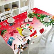3d Santa Claus 54 Tablecloth Table Cover Cloth Birthday Party Event Aj Wallpaper