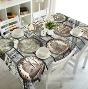 3d Ancient Coins Tablecloth Table Cover Cloth Birthday Party Event Aj Wallpaper