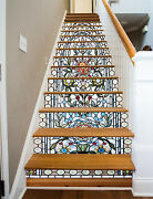 3d Window Texture Stairs Risers Decoration Photo Mural Vinyl Decal Wallpaper Us