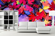 3d Stone Ground Colorful Leaf 40 Wall Paper Wall Print Decal Wall Aj Wall Paper
