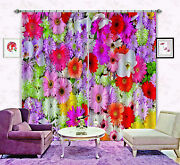 3d Flowers Wall Blockout Photo Curtain Printing Curtain Drapes Fabric Window Ca